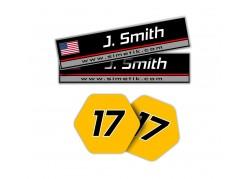 Simétik Name Stickers
